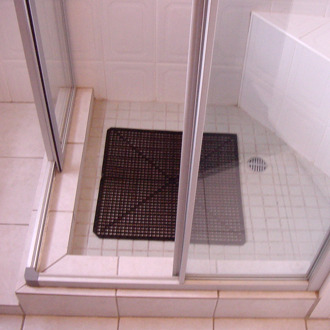 Pvc Shower Mat Self Draining Safety Flooring Tuff Floors